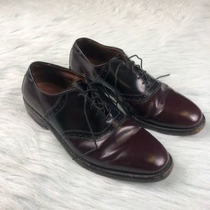 Allen Edmonds Polo Oxford Burgundy Black Shoes 8.5